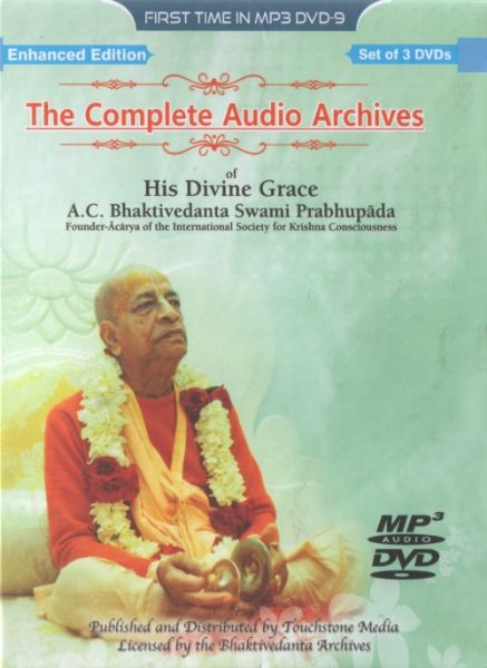Srila Prabhupada MP3 Audio Library -- Now on 3 DVDs!